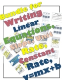 Bundle for Writing Linear Equations (Slope, y=mx+b, Word P
