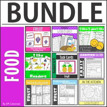 Fruit worksheets, flashcards, wordcards, code breakers BUNDLE
