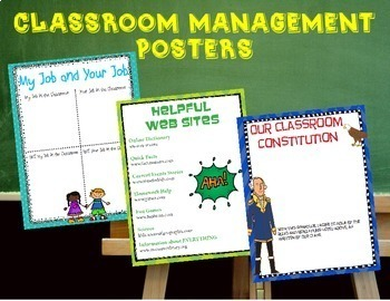 Bundle of 10 Back to School Posters and Interactive Reading Anchor Charts