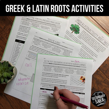 Greek & Latin Roots Activities – 10 Lessons to APPLY Affixes