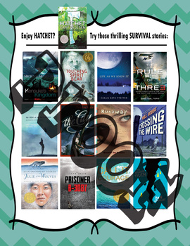 Bundle of 10 Recommended Reads Posters For Middle School Readers