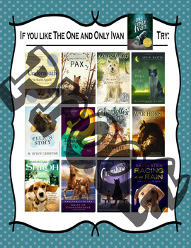 Bundle of 12 Recommended Reads Posters For Middle School Readers