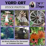 Bundle of 10 Stock Photos of Unique Yard Art