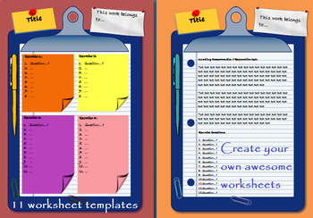 Bundle of 11 Editable Worksheet Templates in Microsoft Wor