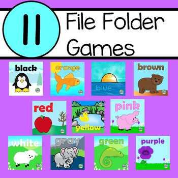 Bundle of  11 File Folder Games