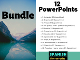 Bundle of 12 PowerPoints for Spanish class