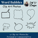 Bundle of 12 Clip Art Word Bubble Clip Art - Group of 12
