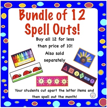Bundle of 12 Monthly Spell Outs