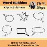 Bundle of 12 Word Bubble Clip Art - Group of 12