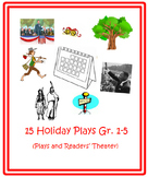 Bundle of 15 Holiday Plays gr. 1-5