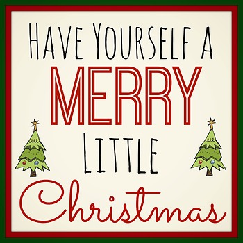Bundle of 19 Printable Christmas Signs for Classroom or Home