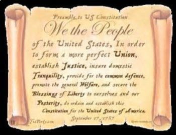 Bundle of 2 - Preamble of the US Constitution & Unit Vocabulary Exercise