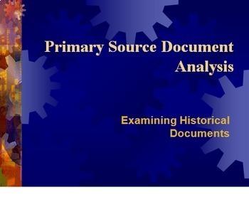 Bundle of 2 - Primary Source Analysis -