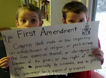 Bundle of 3 - Bill of Rights - 1st Amendment - PP, Study Guide & Answer Key