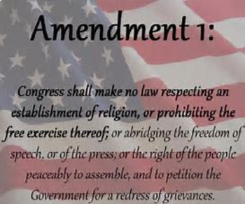 Bundle of 2 - The Bill of Rights & The First Amendment