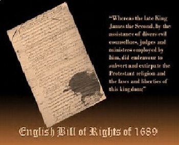 Bundle of 2 - The Bill of Rights for England & the United States