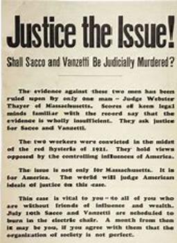 Bundle of 2 - Tutorial & PP - Postwar Blues & Sacco-Vanzetti Trial