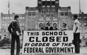 Bundle of 3 - Civil Rights Movement - Federal Troops & Attending School