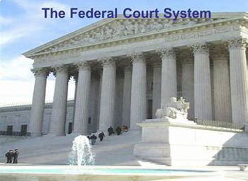 Bundle of 3 - Federal & State Court Systems & Vocabulary Exercise
