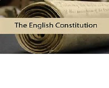 Bundle of 3 - Magna Carta, English Bill of Rights & The English Constitution