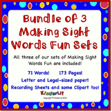 Bundle of 3 Sight Word Fun Sets