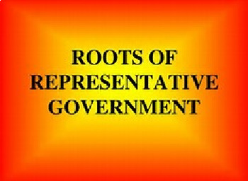 Bundle of 3 - Roots of Representative Government