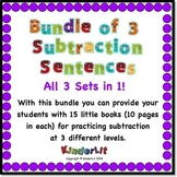 Bundle of 3 Kindergarten Subtraction Sets