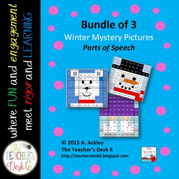 Bundle of 3 Winter Mystery Pictures