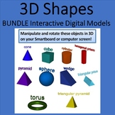 Bundle of 3D shapes Interactive Graphics for Whiteboards and Smartboards