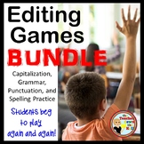 Grammar, Spelling, Capitalization, Punctuation-4 Classroom Editing Games!