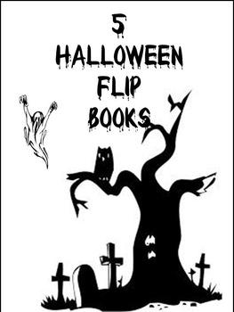 Bundle of 5 Halloween Flip Books.