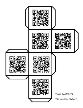 Bundle of 6 Back to School Getting to Know You Questions (QR Codes)