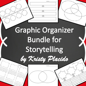 Bundle of 6 Graphic Organizers for Storytelling and Novels