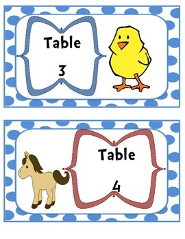 Bundle of 7 Themed Table Sign Decorations