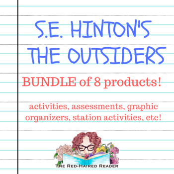 Bundle of 8 resources for S.E. Hinton's The Outsiders !