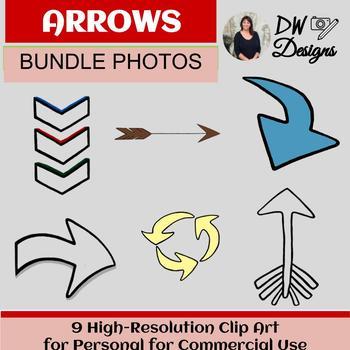 Bundle of 9 Clip Art Arrow Designs