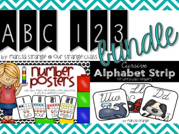 BOGO: ABC Cards & Number Cards in Cursive