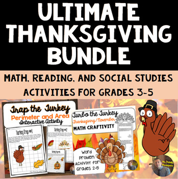 Super T-Day Bundle! Thanksgiving Math, History, and ELA Pr