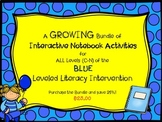 Bundle of All Level of Blue Interactive Notebook Leveled Literacy Intervention