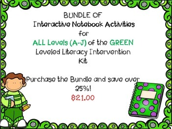 Bundle of ALL of Interactive Notebook Levels Leveled Liter