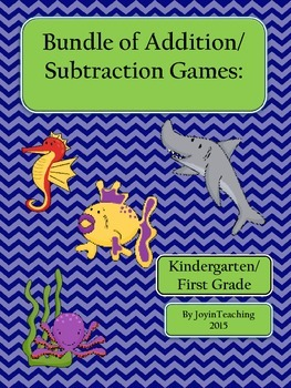 Bundle of Addition/Subtraction Games:Dice games/ Sorts- Ki