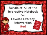 Bundle of All Levels of Red Interactive Notebook Leveled Literacy Intervention