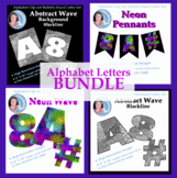 Bundle of Alphabet Clipart Bulletin Board Letter Sets of A