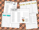Bundle of Answer Sheets and Scantrons for Social Studies