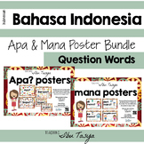 Bundle of Apa/Mana Posters Indonesian | Question Posters |