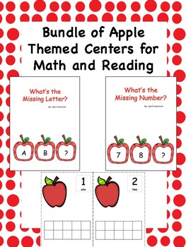 Bundle of Apple Themed Activities for Math and Reading