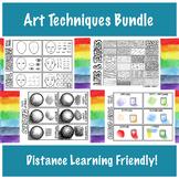 Art Process  & Techniques Bundle | Virtual Instruction Friendly!