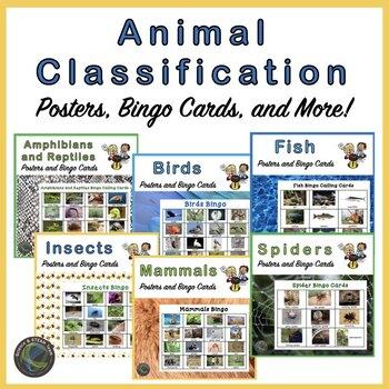Bundle of Bingo!  Animals Classification