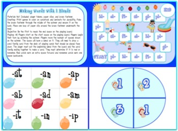 Bundle of Board Games (Reading and Making Words With Beginning Blends)