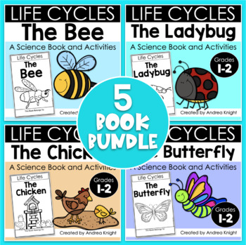 Bundle of Books:  Animal Life Cycles {5 Books & Comprehension Sheets}